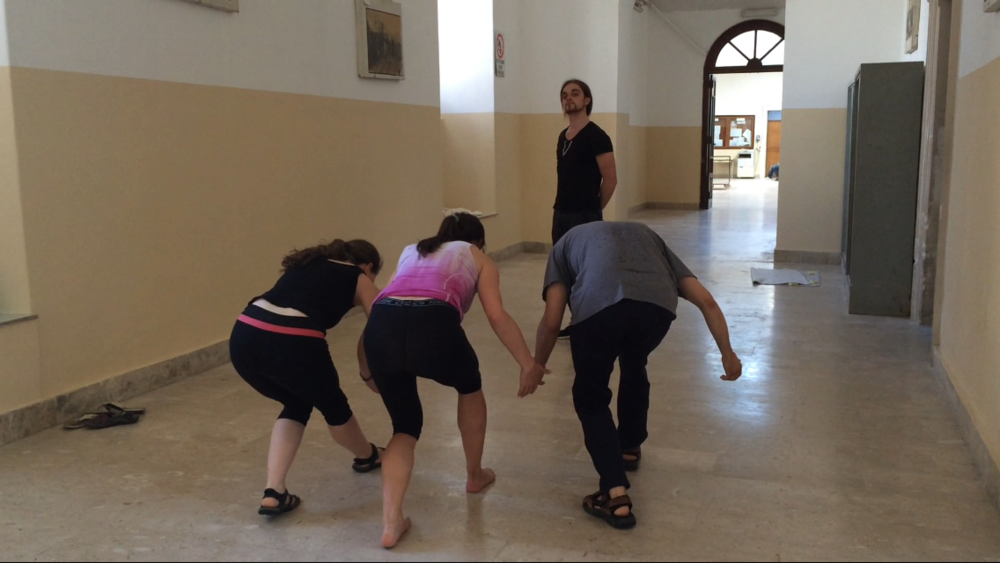 Rehearsal in the hallway of San Placido with special guest, Gianluca Minnisale