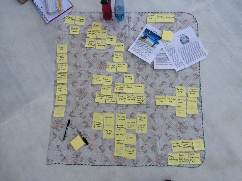 Storyboarding the show