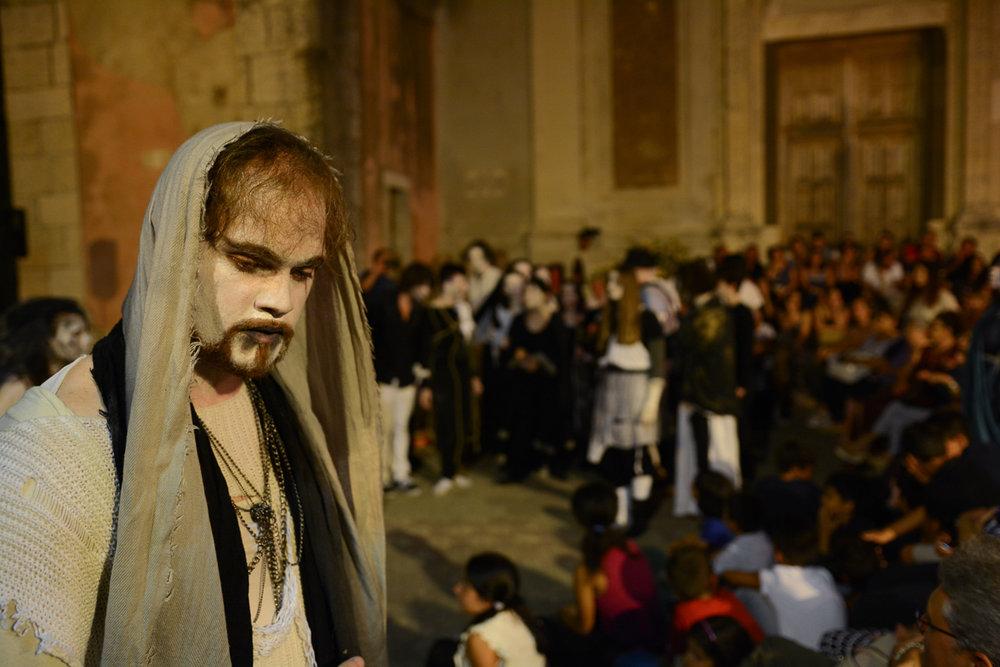 Teatro degli Esoscheletri (Gianluca Minissale as Jeshua)  Photo by Placido Carbone
