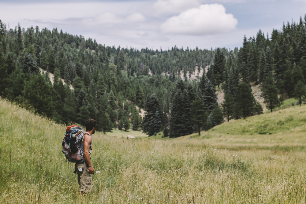 Mehedi on our hike through the San Antonio valley