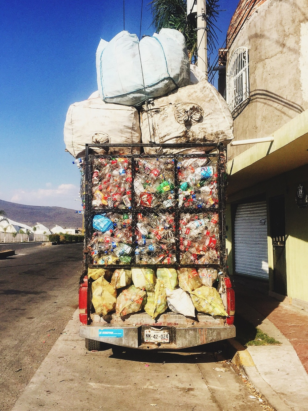 Some serious recycling in Tanhuato de Guerrero