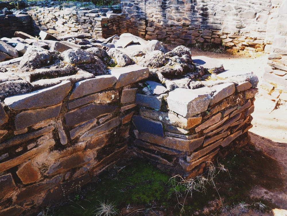 Details of the ruins at Tzintzuntzan