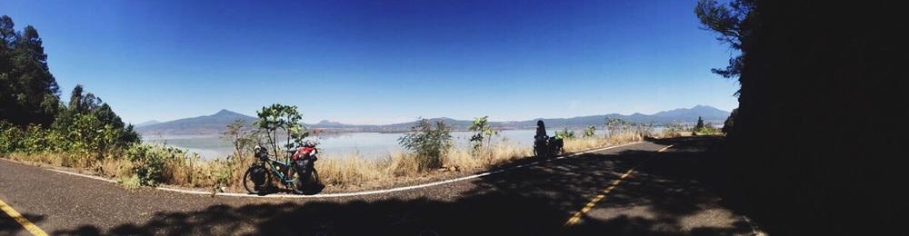 Our road along Lago de Pátzcuaro
