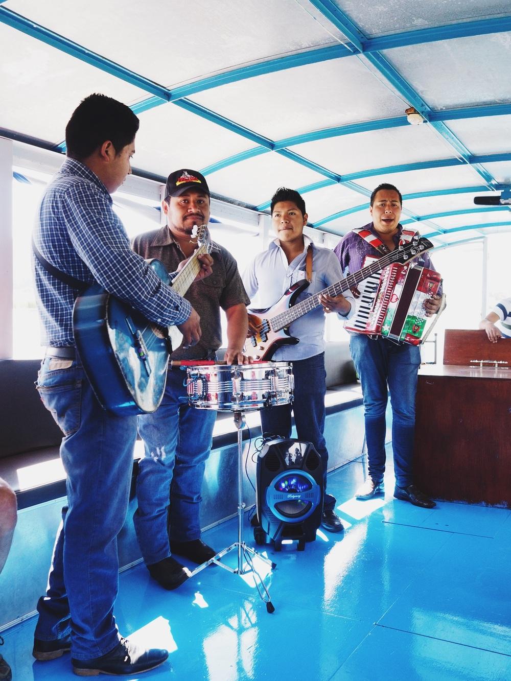 Serenaded on the boat to Isla de Janitzio