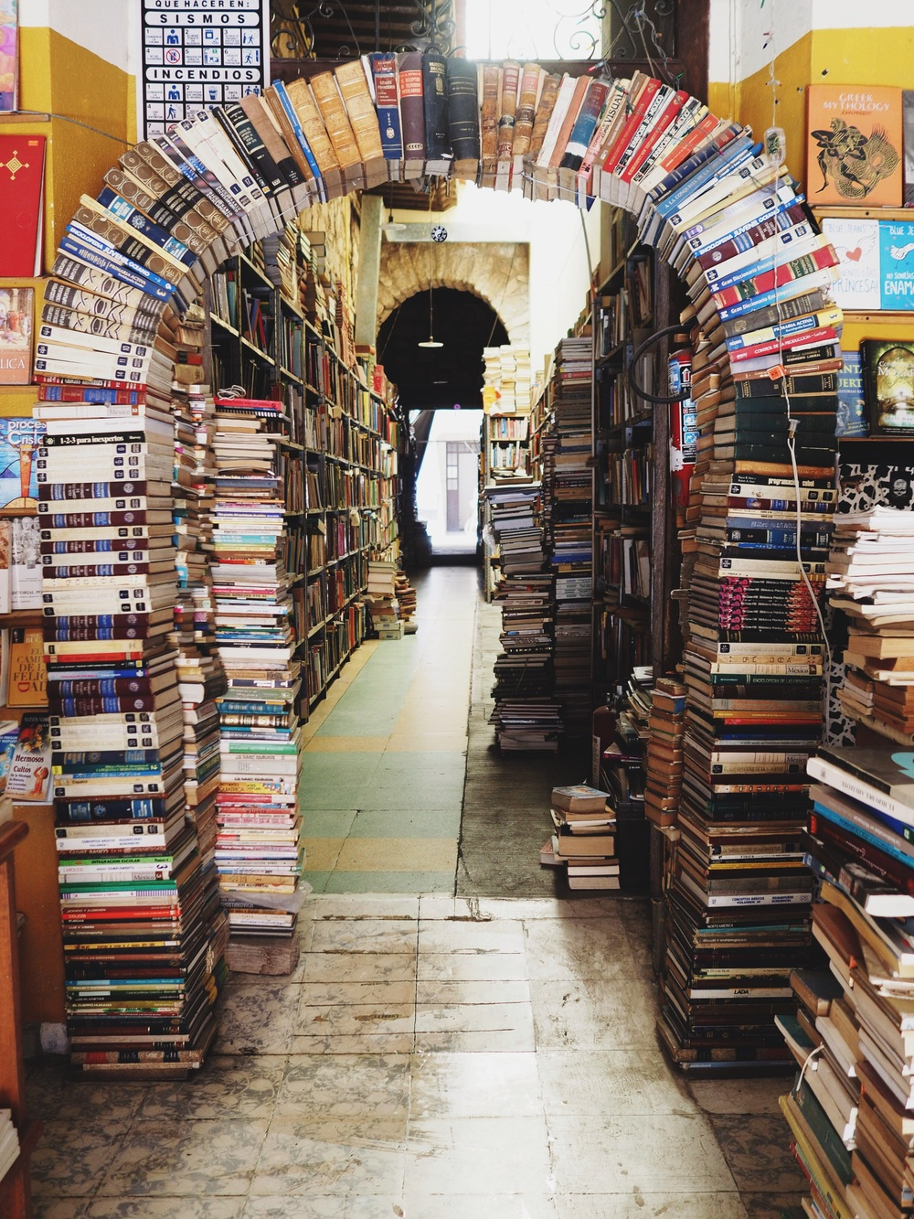 We stumbled upon this charming used bookstore