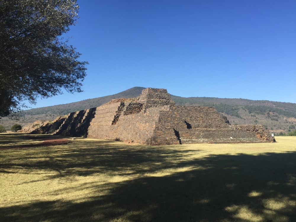 The ruins at Tzintzuntzan