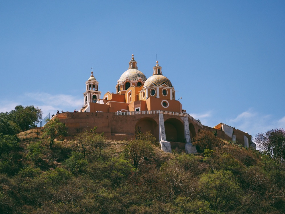 The church of Cholula, sadly built atop the Great Pyramid of Cholula – by volume, the largest pyramid in the world
