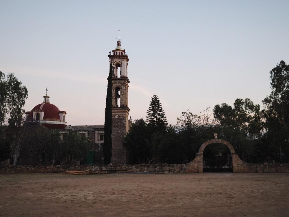 Camping at the municipality in the tiny town of Santa Cruz Nuevo near the Puebla/Oaxaca border