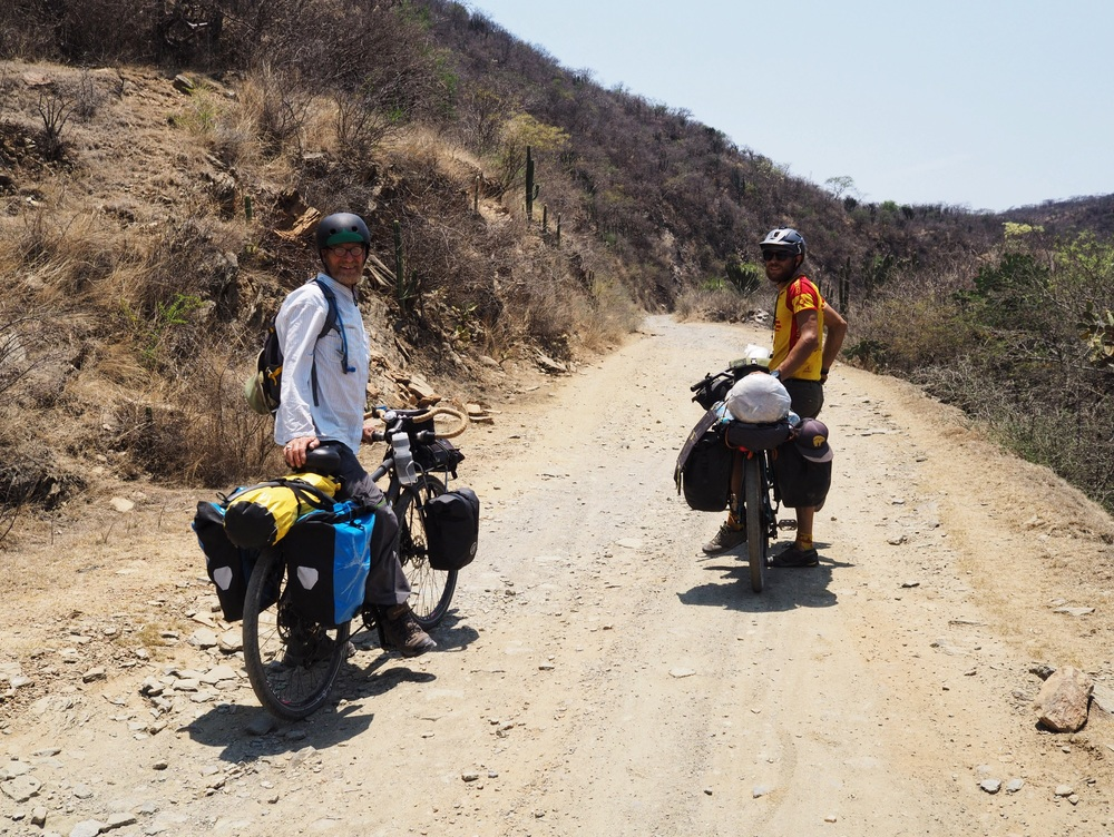 Climbing quiet dirt roads in the mountains of Puebla