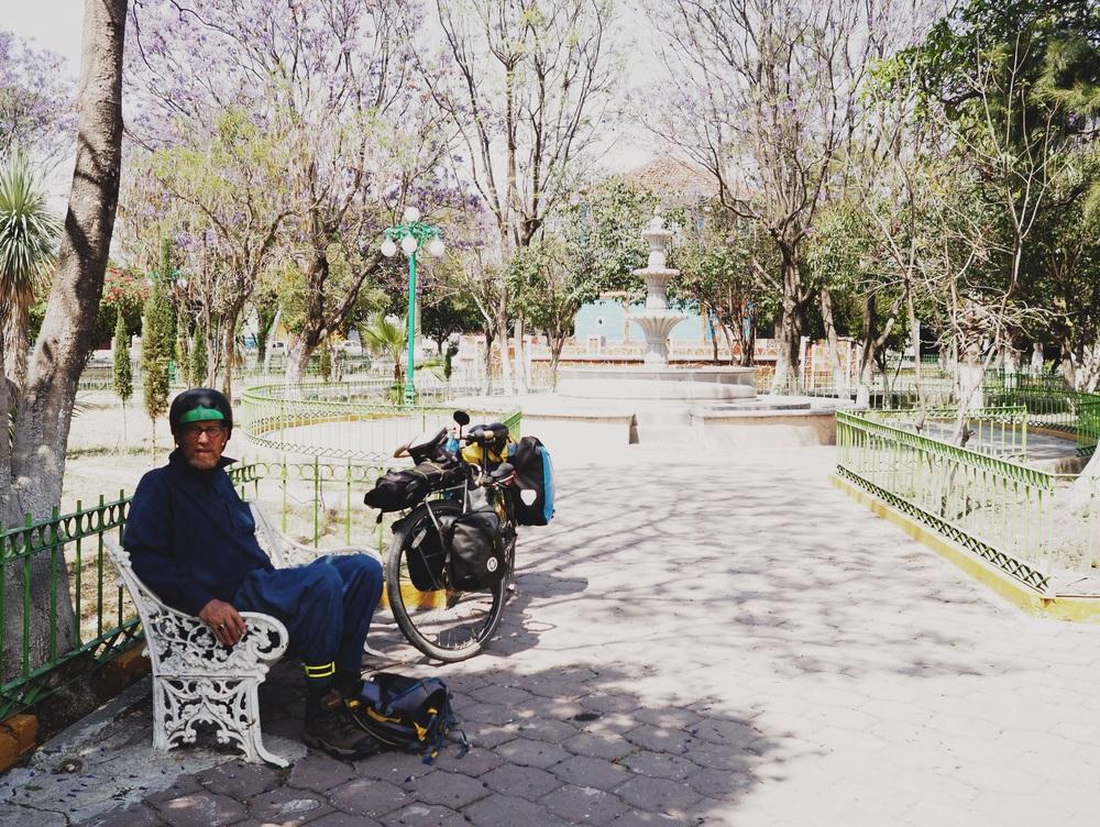 Benyamin taking a quick break from the sun in Molcaxac