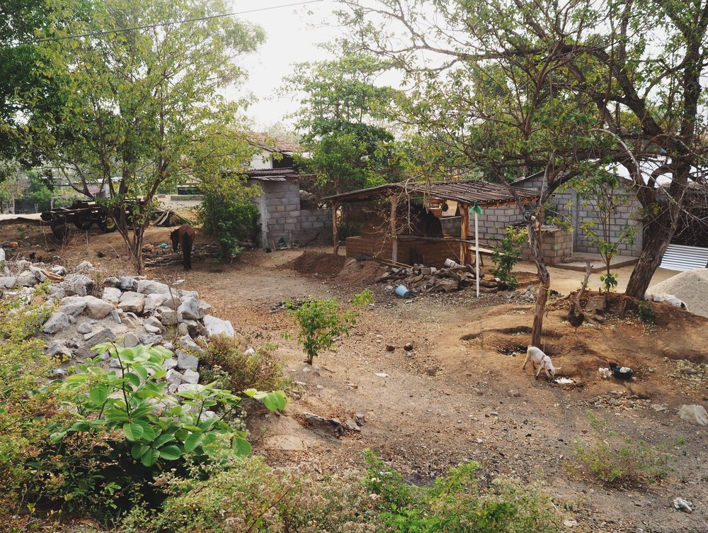 Yard with an horno, Concepción Bamba