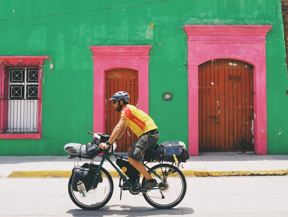 Riding out of the colorful streets of Oaxaca