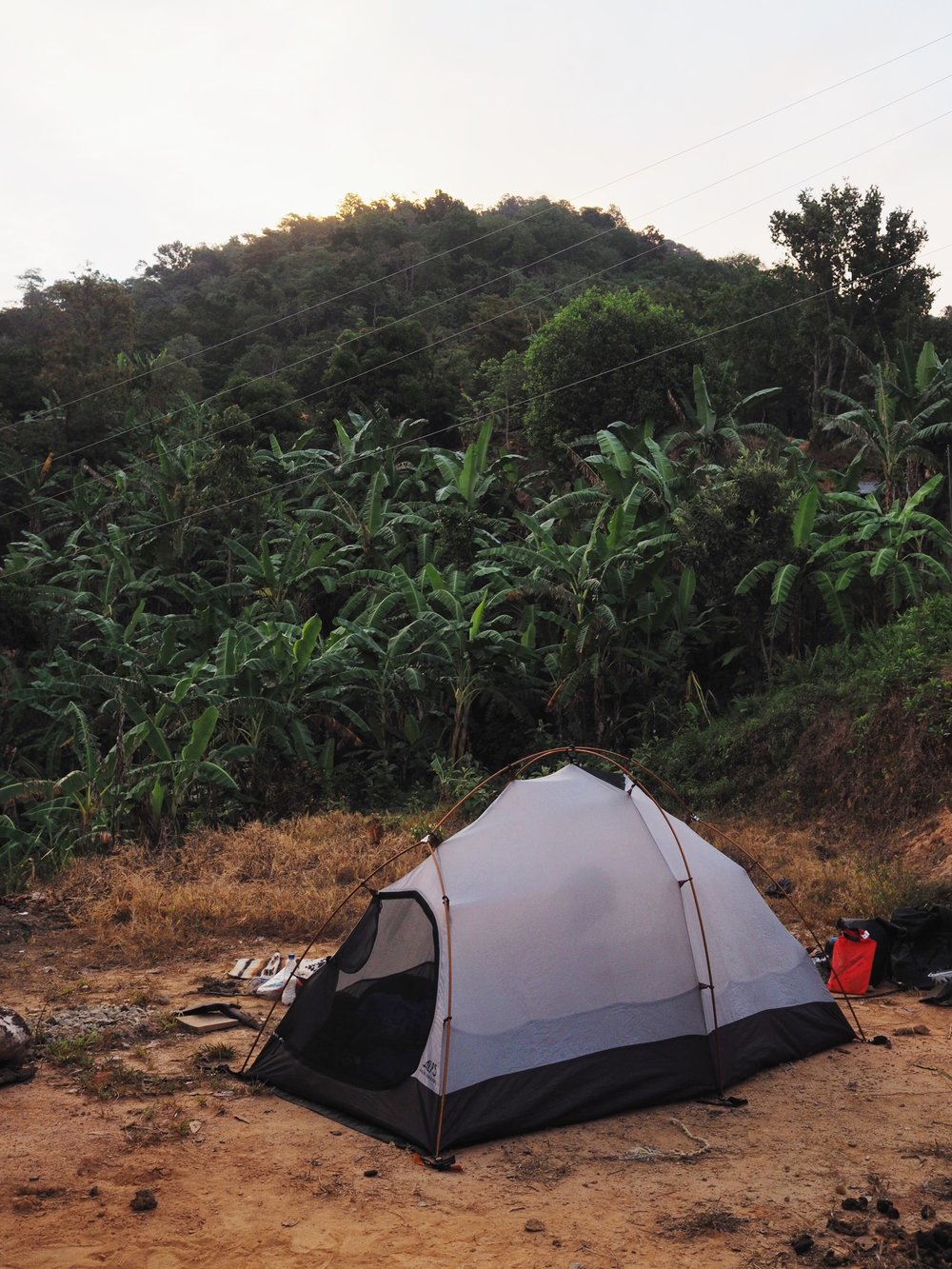 Camping in the banana farm, Porvenir