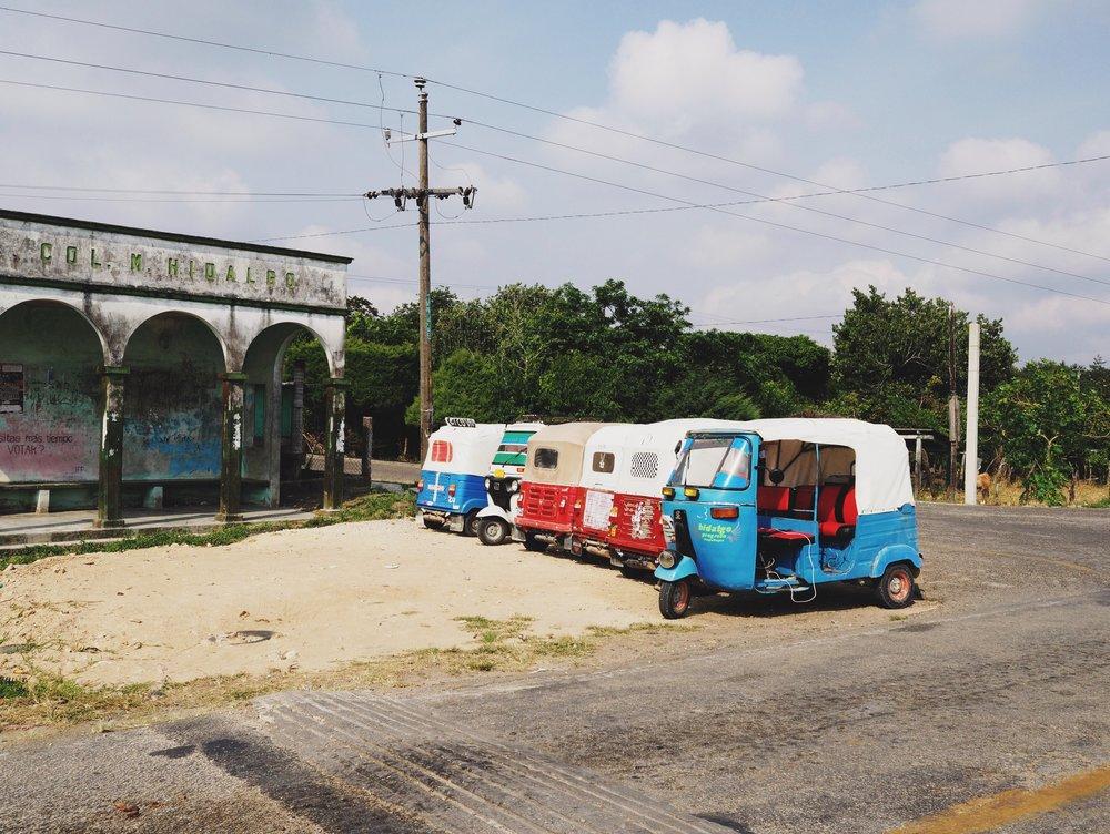 Tuktuks, we notice, are often found in border towns