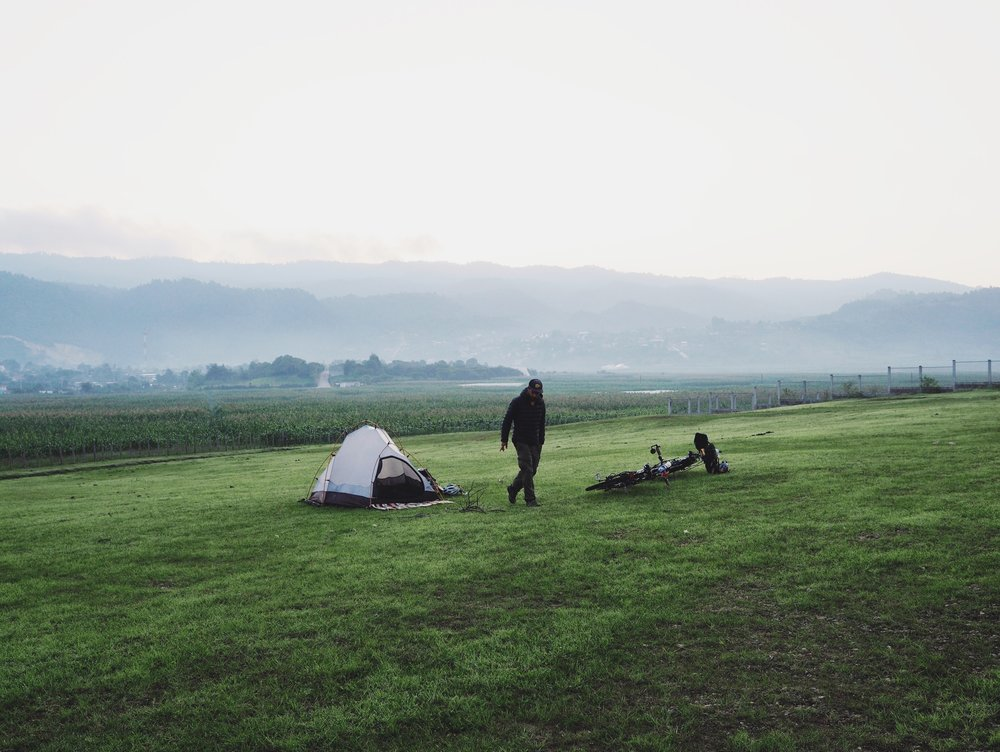 Perfect little campsite in Amatenango del Valle