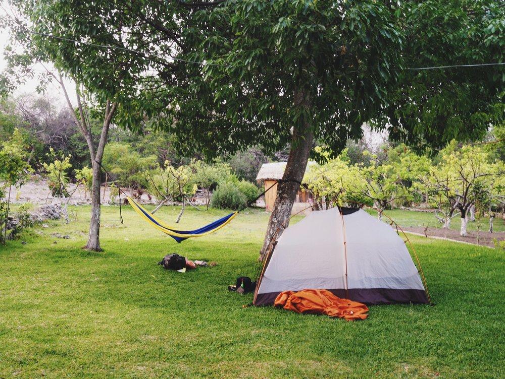 Campsite in Corral de Piedra