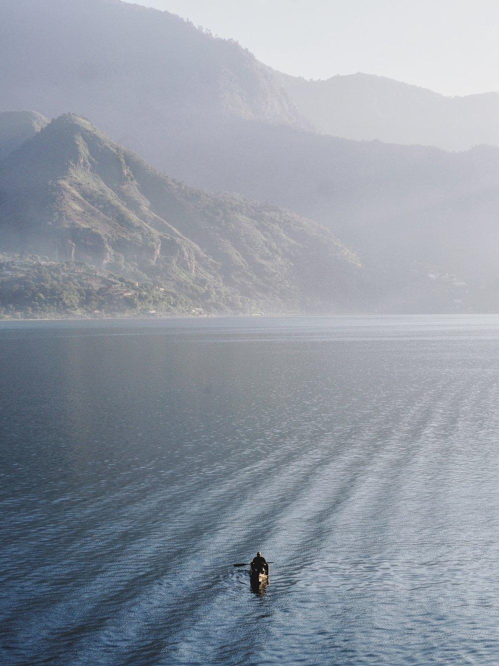 Fisherman on Lake Atitlán