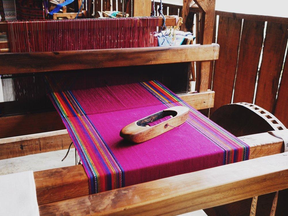 Weaving shop, San Antonio Palopo