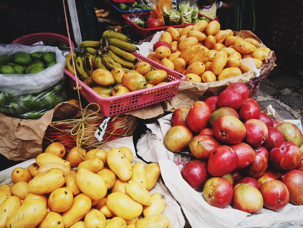 Abundant food markets are found all over these parts
