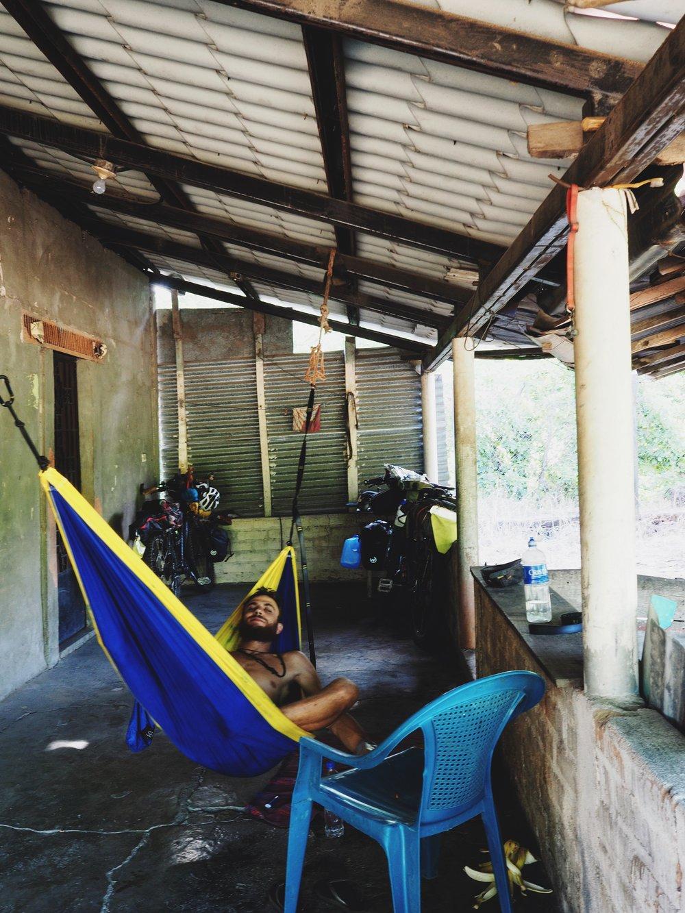 Campsite outside of Zacatecoluca