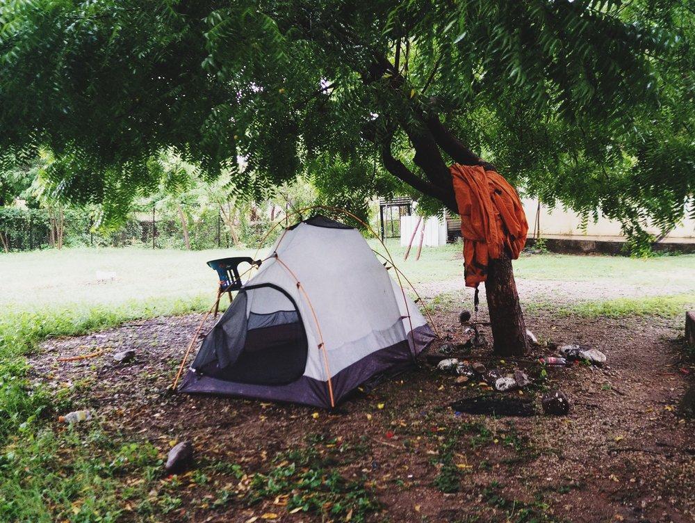 Camping outside Choluteca