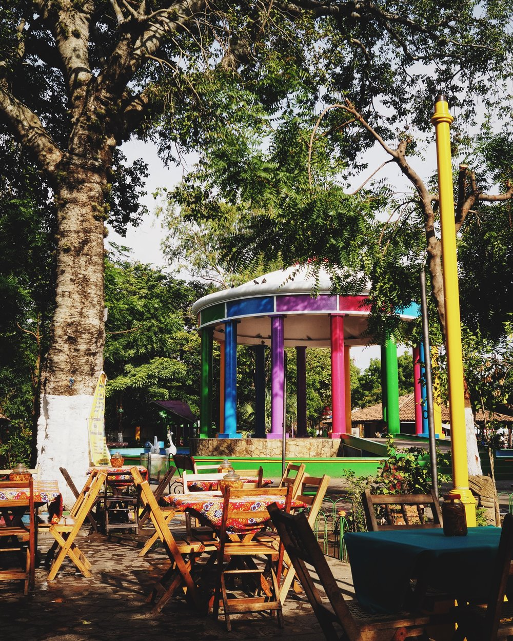 Colorful Central Park of Masaya