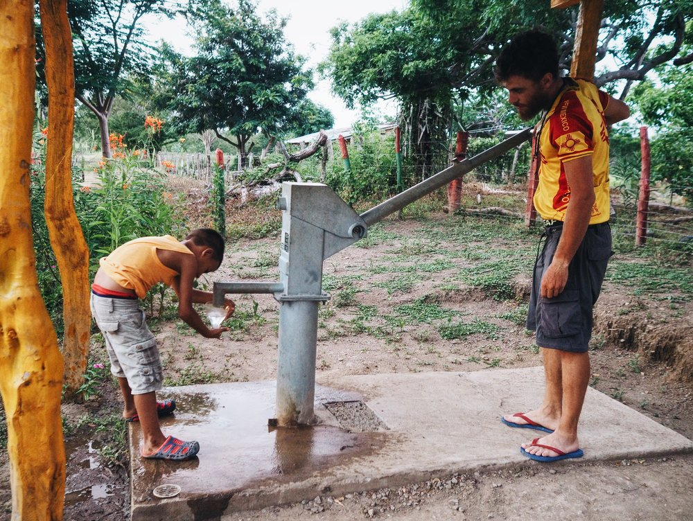 Diana's nephew showed us the new well installed and paid for by a small church in Texas