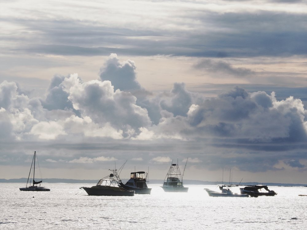 Boats at Playa Herradura