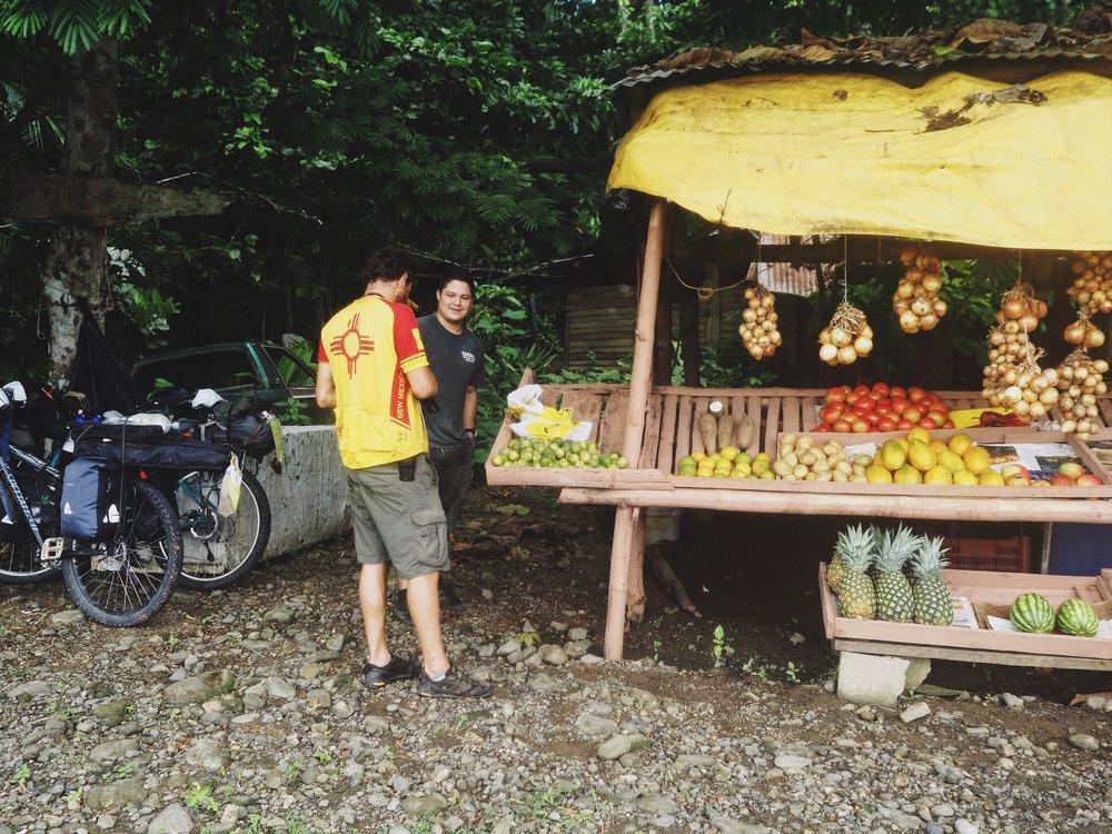 Roadside fruit vendor