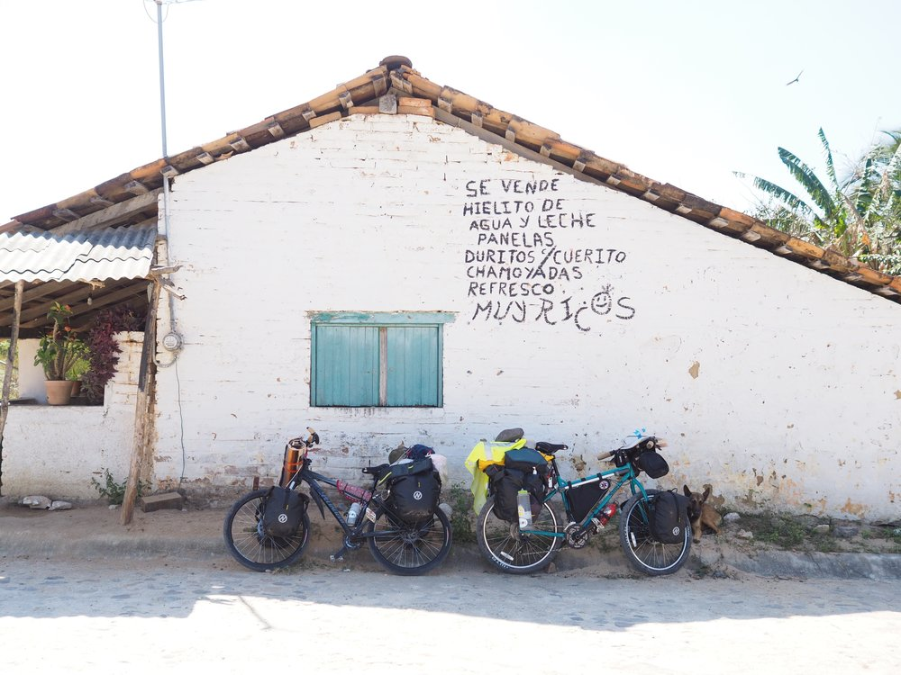 Our bikes at the very beginning of our adventures through Latin America. Mexico, February 2016.