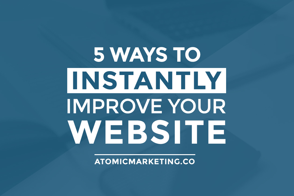 Improve your business website blog featured image