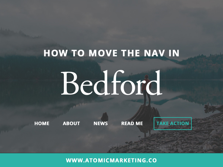 How To Move The Nav In Bedford: Squarespace Customization {Video