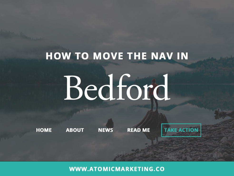 How to Move the Nav in Bedford: Squarespace Customization {Video}