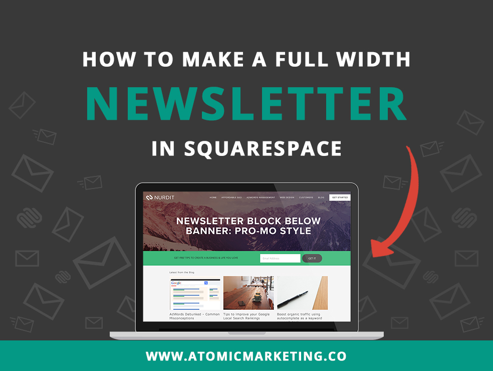 How to make a full width newsletter in Squarespace thumbnail banner