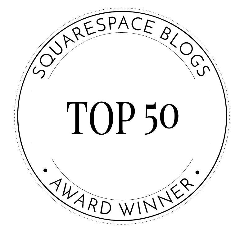 Top 50 Squarespace Blogs awards badge