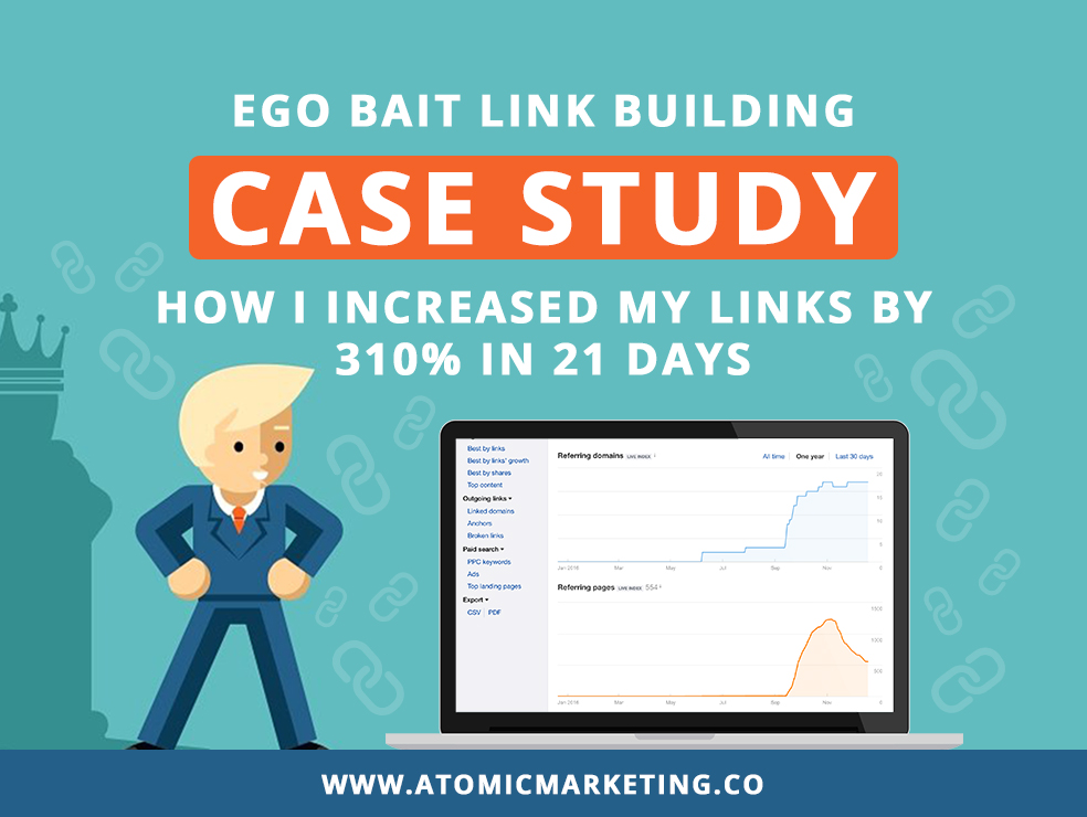 Ego Bait link building case study featured blog image