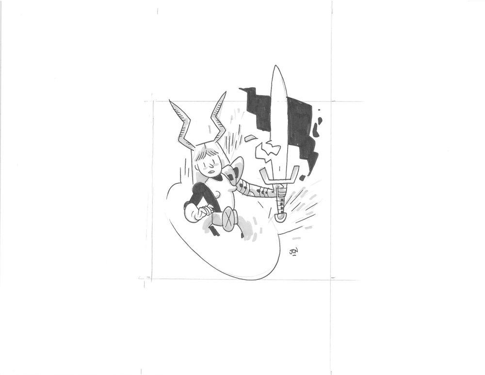 NEW MUTANTS MAGIK - $20 SOLD Original Illustration / 8.5 x 11 Cardstock