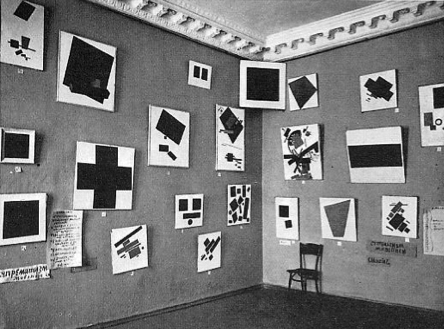 Kazimir Malevich   Last Futurist Exhibition of Paintings 0.10   Dobychina Art Bureau at Marsovo Pole, Petrograd   1915   The Russian Museum, St. Petersburg