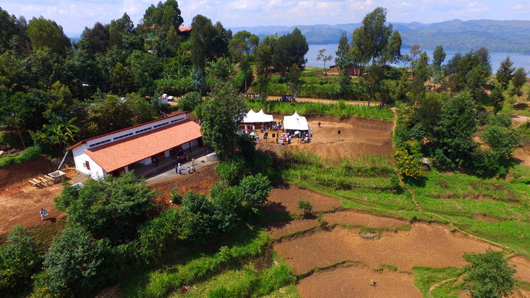 Nearest local water source is the lake in the upper right side of this photo of the Sunzu Yaco Community Center.