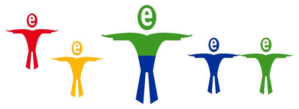 """Secondary Identity - The """"e-man"""". The colors were used in team building to describe personalities to help managers and employees better understand each other."""