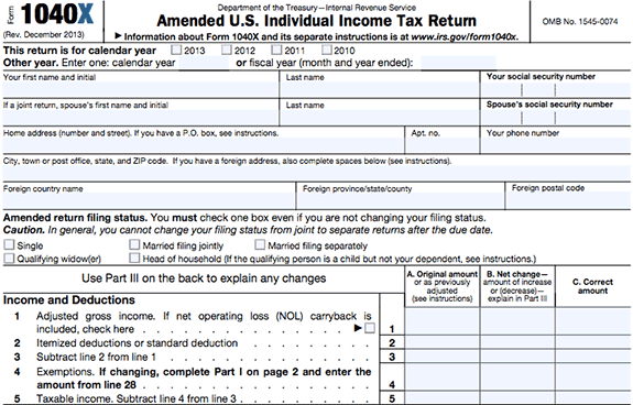 "Need to correct some information on your tax return?  Below are helpful steps when filing an amended tax return:   Must be mailed : E-filing is not an option for amending your return. Use  Form 1040X , the Amended U.S. Individual Income Tax Return, to submit corrections to your filed tax return. Use the  Form 1040X Instructions  and our 1040X Breakdown to make sure you complete your form properly and know where to mail it.   Make corrections : Form 1040X is used when needing to change your filing status, make a correction to your income, deductions or credits on your original tax return.   When not to amend : If you have math errors or are missing any supporting documents or schedules, you do not need to file an amendment. The IRS will automatically correct the math and send a request for additional documents.   Form 1095-A : If your original Form 1095-A, Health Insurance Marketplace Statement, was incorrect you may have received a second form. Compare the original Form 1095-A with the second form and compare to determine the effect of the changes and if you should file an amended tax return.   Three-year timeframe:  Form 1040X will need to be filed within 3 years of your original filing date or within 2 years of paying your taxes, whichever is later. Refer to the  Form 1040X Instructions  for special rules.   Multiple Years to Correct : If you need to amend multiple tax returns, each year's tax return will need its own Form 1040X. Each amended return should be mailed out in separate envelopes.   IRS Forms & Schedules : Make sure any IRS forms or schedules, that are used to make changes to your original return, are attached to your Form 1040X.   Correcting a refund:  Wait to receive your refund from your original tax return before filing an amended Form 1040X. It takes up to 16 weeks to process an amended return.   Correcting taxes owed:  If additional taxes are owed, submit your Form 1040X and pay the additional tax as soon as possible to avoid penalties and interest. You can use  IRS Direct Pay , a bank-draft option, to pay your tax.   Check the status of your corrected return:  After you file your amended return you can start tracking your status three weeks after you have filed at "" Where's My Amended Return? ""     For updates from our Affordable Care Authority, follow us on Twitter 
