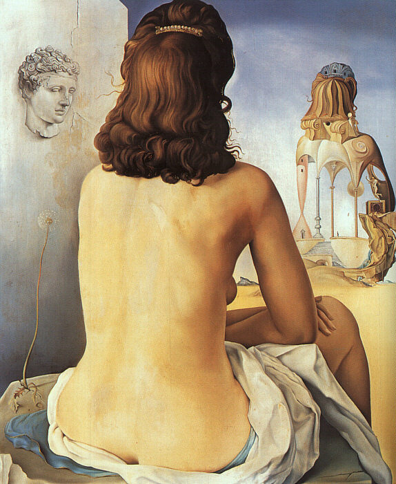 My Wife, Naked, Watching Her Own Body (1945), Salvador Dali
