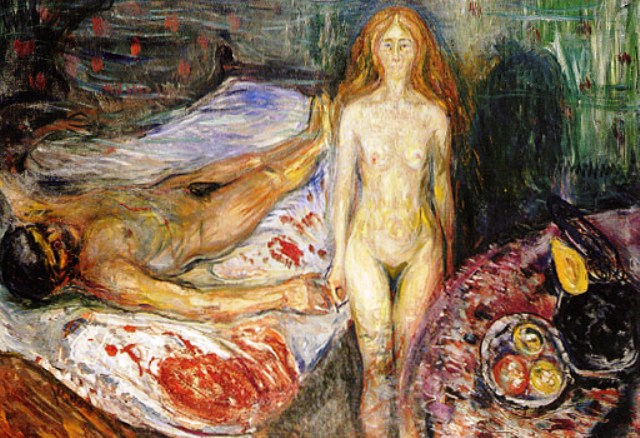 Death of Marat I, Edvard Munch, 1907