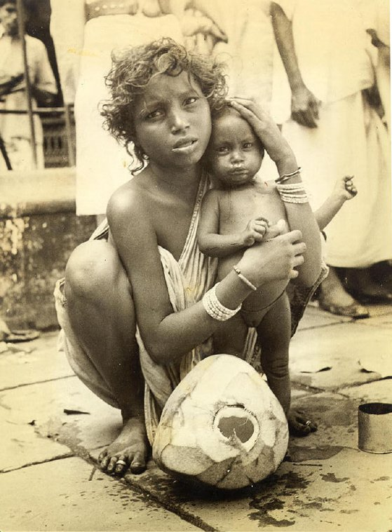 Child Bride Streets of Calcutta by Brajeshwar