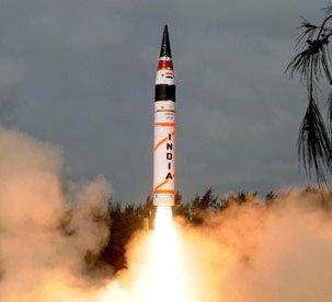 India's Agni V Missile Launch, April 2012