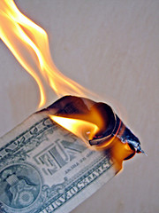 US Dollar Burning, Photo by Images of Money