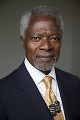 SWITZERLAND. Global Humanitarian Forum Campaign for Climate Justice: Kofi Annan