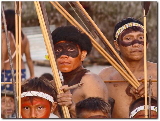 Yanomami Men, Known as Horonami, Photo by Cannivals