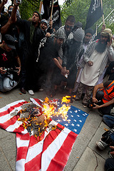 Burning American Flag, Photo by Pixel.Eight
