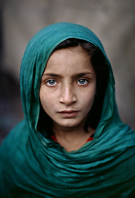 Girl with Green Shawl, Peshawar, Pakistan, 2002, Photo by Dr. Riz
